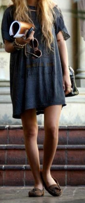 boho oversized t-shirt t-shirt dress