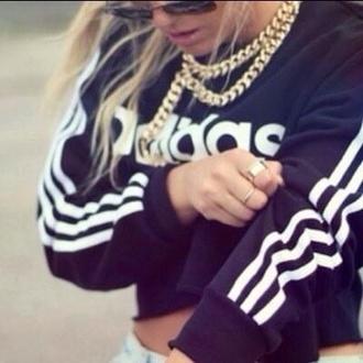 sweater adidas black white