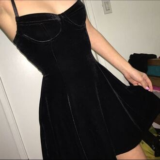 dress velvet dress black dress black velvet black skater dress skater dress bustier dress