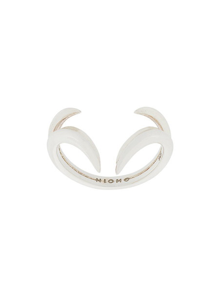 Niomo women ring silver grey metallic jewels