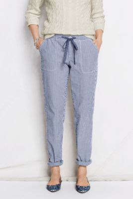 Women's Seersucker Market Pants from Lands' End
