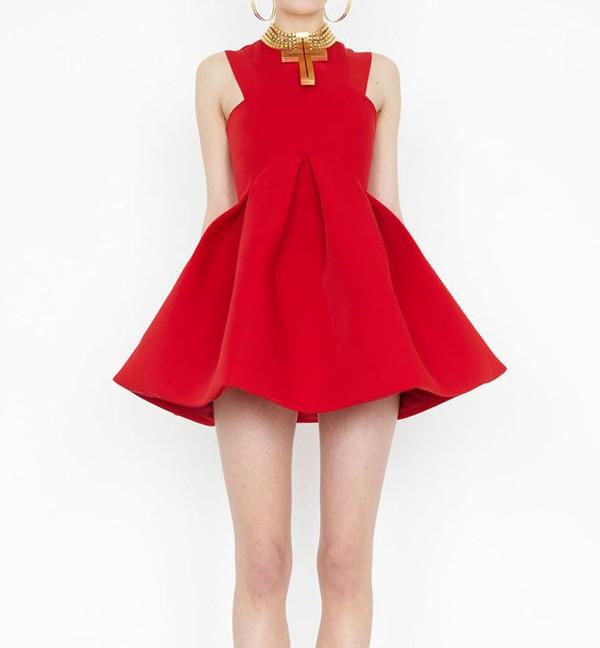 Skater Dress With Box Pleated Full Skirt