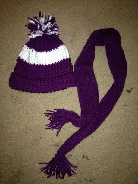 hat handmade beanie scarf set
