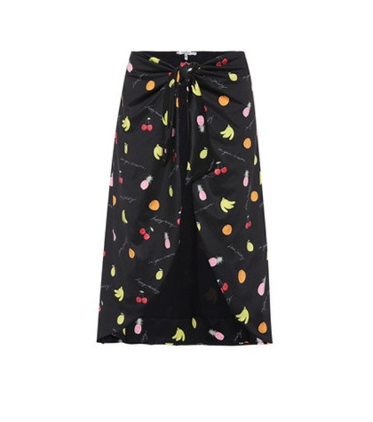 Ganni Exclusive to mytheresa.com – printed swim skirt in black