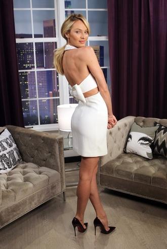 dress white dress candice swanepoel bow bow dress white open back dresses open back short dress