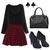 ROMWE | ROMWE Red Plaid Print Skirt, The Latest Street Fashion