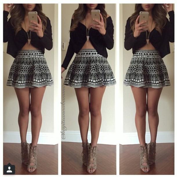 skirt blouse shirt cute high heels outfit jewels dress black dress shoes top