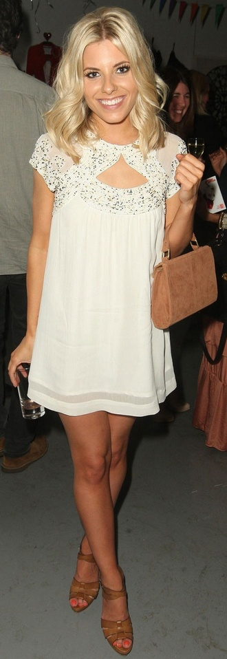 dress celebrity clothes short party dress short party dresses white white dress white and silver cute pretty party gorgeous mollie king cute dress shoes
