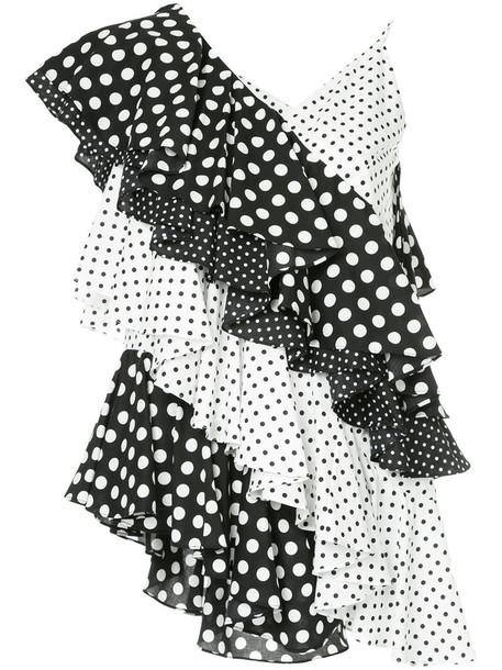 top ruffle women white cotton