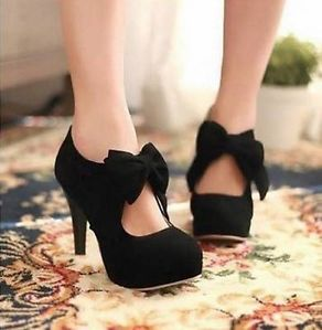 New Fashion Bow Platform Pumps High Heel Ankle Boots Women's Shoes US AB | eBay