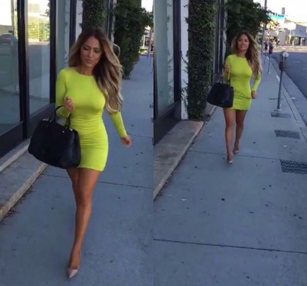 Fitted Long Sleeve Short Dresses