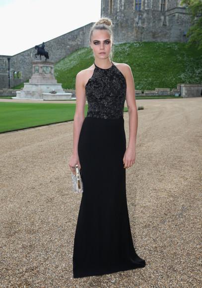 dress cara delevingne halter dress