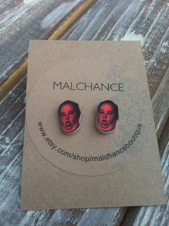 June boo boo post earrings by malchanceboutique on etsy