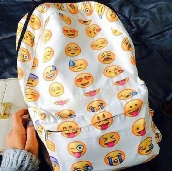bag backpack emoji print