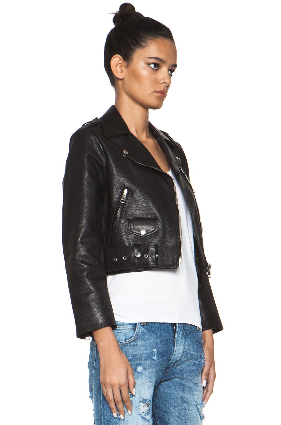 Acne Studios | Mape Leather Jacket in Black