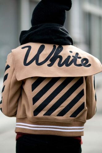 jacket tumblr quote on it customized nude jacket stripes bomber jacket baseball jacket teddy jacket scarf beanie pom pom beanie black beanie