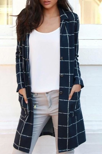 coat checkered plaid winter outfits black zaful