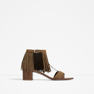 shoes fringes brown shoes