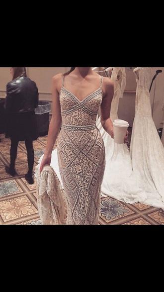 dress white dress gold dress wedding dress prom dress pearl pearlish white
