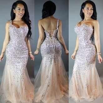 dress prom prom dress rhinestones dress rhinestone beaded wedding dresses rhinestones crystal tan nude prom gown long prom dress