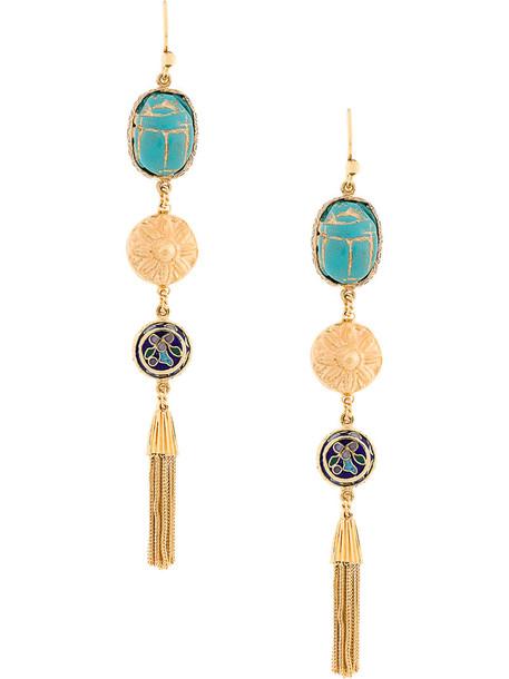 metal women earrings gold grey metallic jewels