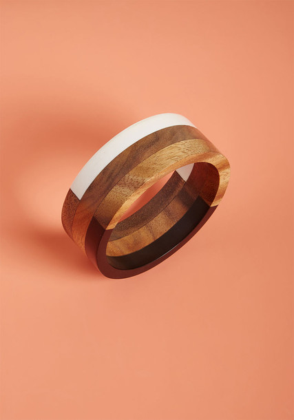 ModCloth Natural Inclination Wooden Bracelet