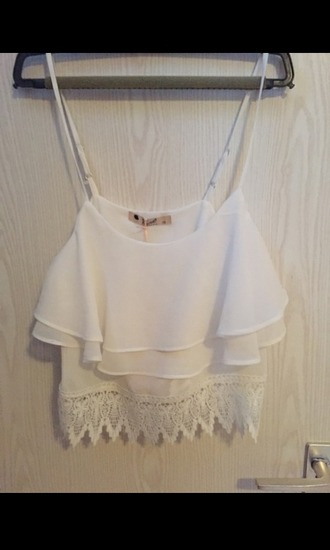 top white top white crop tops crop tops white lace laced top lace top asos summer summer top