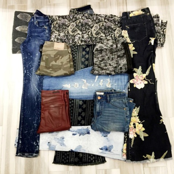 jeans leggings shorts style patterns blue multicolor maxi long aztec pattern patternshorts hippie indie grunge