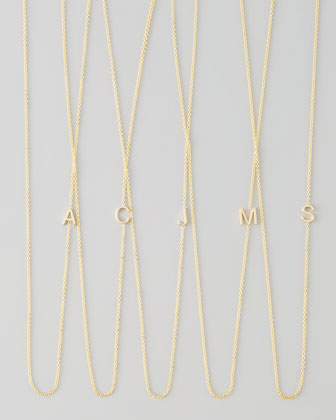 Maya Brenner Designs 14k Yellow Gold Mini Letter Necklace - Neiman Marcus