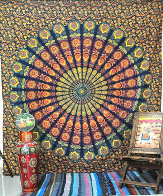 home accessory bedcover bedding hippie mandala beach throw queen bedspead tapestry wall hanging holiday gift wall tapestry home decor wall decor living room decoration