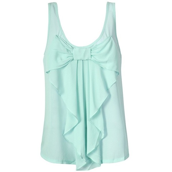 Chiffon bow front top