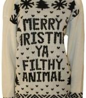 sweater,christmas sweater,winter sweater,cute sweaters,christmas,warm sweater,oversized sweater,white sweater,sayings,ugly christmas sweater