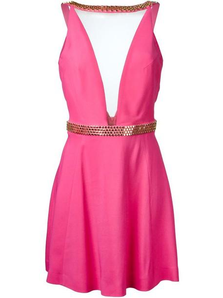 PHILIPP PLEIN dress women spandex purple pink
