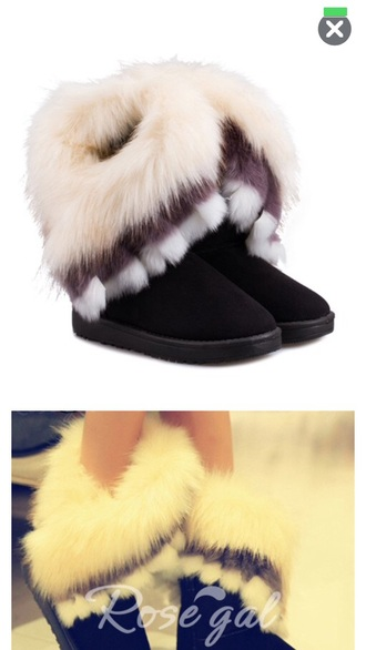 shoes boots fur fasion amazing comfy