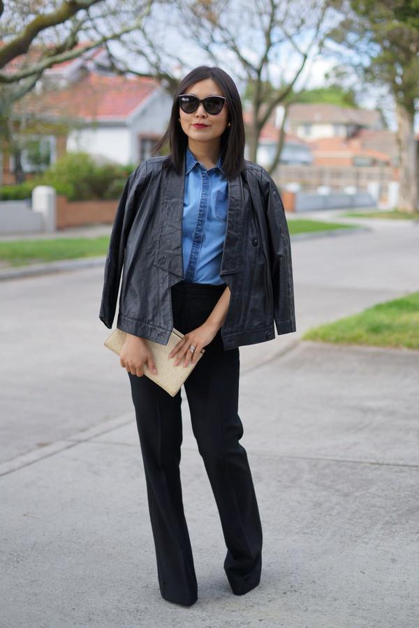 cecylia blogger jacket bag sunglasses