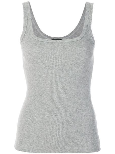 Dsquared2 Underwear - tank top - women - Cotton/Spandex/Elastane - S, Grey, Cotton/Spandex/Elastane