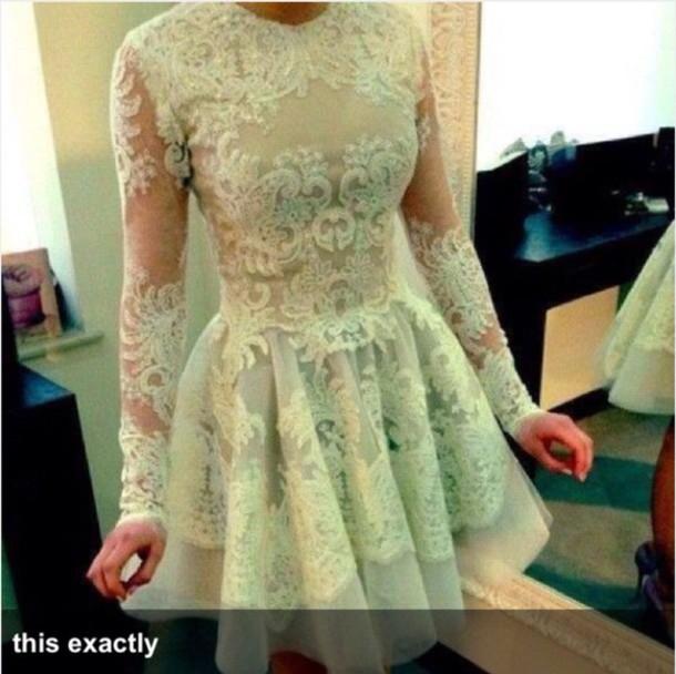 dress mint dress lace dress long sleeve dress short prom dress prom dress