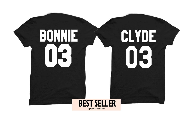 Bonnie Clyde 03 couples shirts, bonnie clyde set of couples shirts, anniversary gifts for couples, love sets, bonnie clyde sets