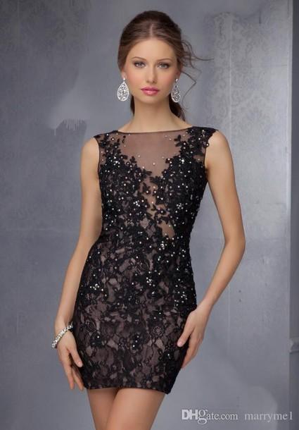 12cf74d5 dress black dress black lace prom dress black sequin dress sheath dress  tight skirt