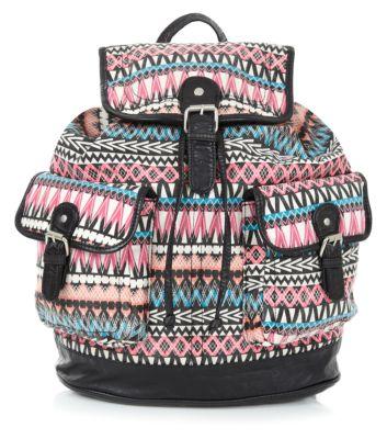 Pink ikat back pack
