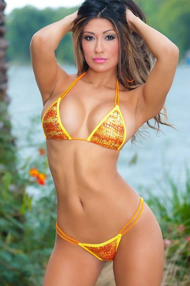 amazing gorgeous swimwear gorgeous bikini orange bikini bikini sexy bikini
