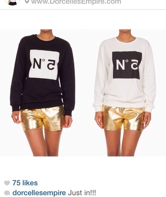 sweater pullover black white fashion shirt hoodie top sweat the style