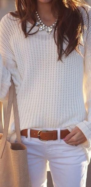blouse white sweater cardigan knit cream pretty pullover