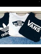 t-shirt,adidas,vans,shirt,black