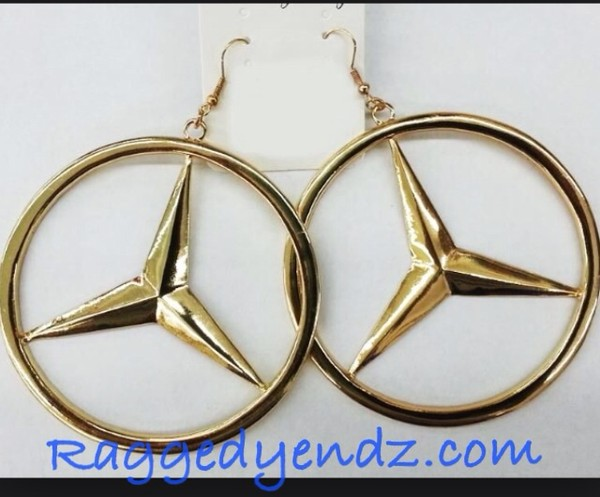 earrings gold mercedes earrings mercedes benz benz mercedes love and hiphop basketball wives la realitytv jewelry big earrings bracelets hair accessory