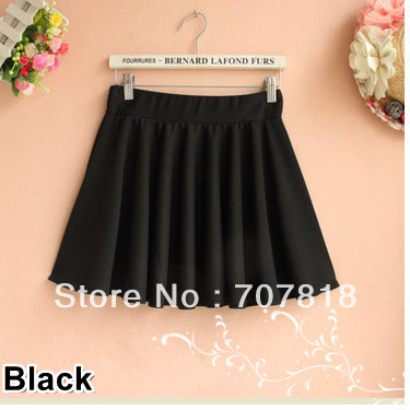 Free Shipping!2014 Fashion Sundress. Knitting Mini Skirts,Spring Skirt,Black Pleated Skirt,Stretch Waist Flared Short Skirts-in Skirts from Apparel & Accessories on Aliexpress.com