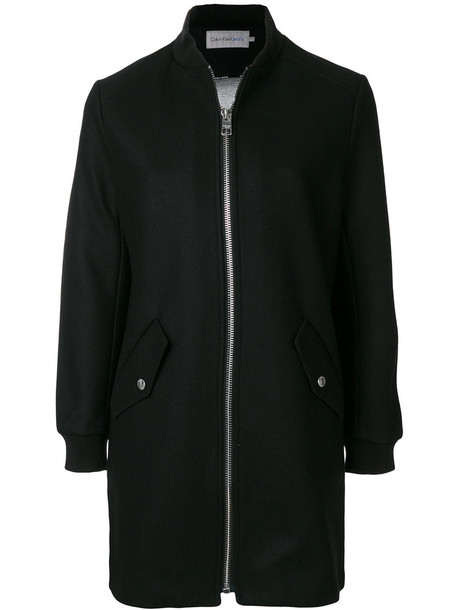 coat women spandex cotton black wool