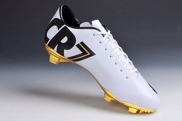 shoes nike cr7 soccer cleats gold