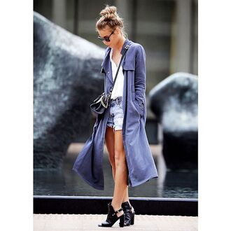 coat fashion trench coat blue trenchcoat hipster blue coat