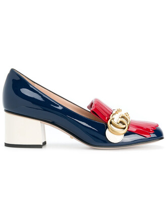 heel women pumps leather shoes